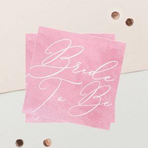servetten-bride-to-be-pink