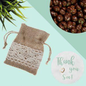 bedankjes-bruiloft-jute-zakje-chocolade