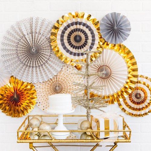 bruiloft-decoratie-megaset-paper-fans-gold-silver