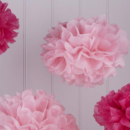 bruiloft-decoratie-pompom-set-hot-light-pink-vintage-lace