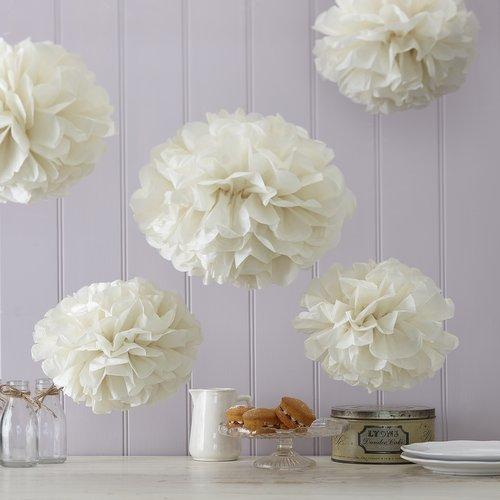 bruiloft-decoratie-pompom-set-ivoor-vintage-lace