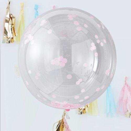 mega-ballon-confetti-roze