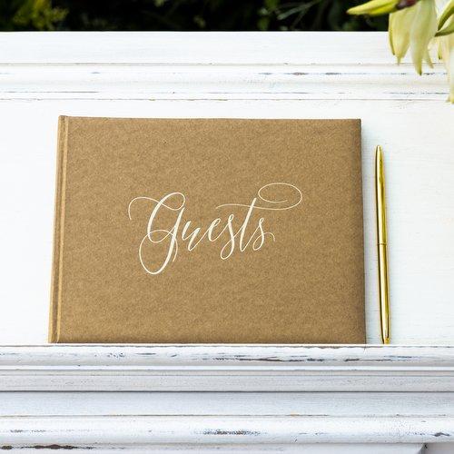 gastenboek-guests-kraft-gold