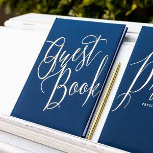 gastenboek-navy-blue-gold
