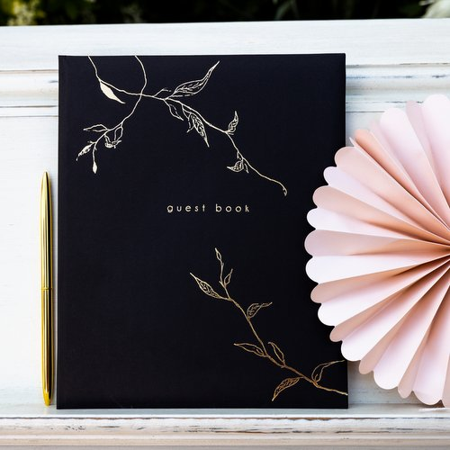 gastenboek-twigs-black-gold