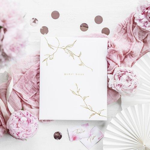 gastenboek-twigs-white-gold