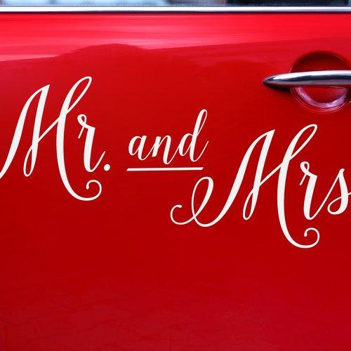 bruiloft-decoratie-autosticker-mr-mrs-2