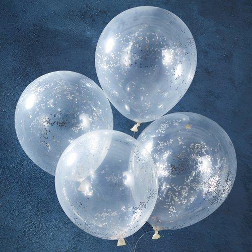 bruiloft-decoratie-confetti-ballonnen-silver-glitter-star-christmas-night-4