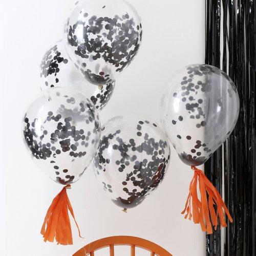 bruiloft-decoratie-confetti-ballonnen-zwart-pumpkin-party-3