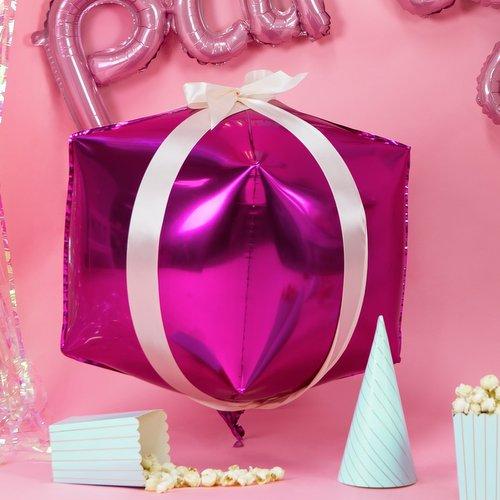 bruiloft-decoratie-folieballon-cubic-fuchsia-3