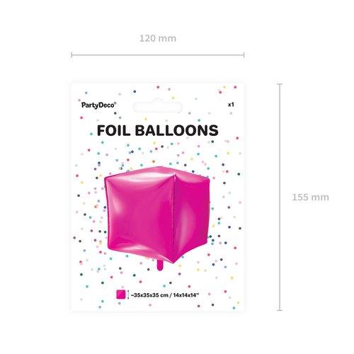 bruiloft-decoratie-folieballon-cubic-fuchsia