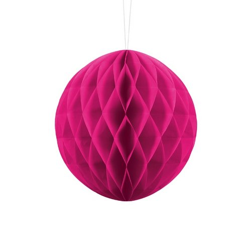 bruiloft-decoratie-honeycomb-fuchsia-20cm