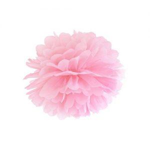 bruiloft-decoratie-pompom-lichtroze-25cm