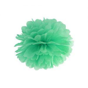 bruiloft-decoratie-pompom-mint-25cm