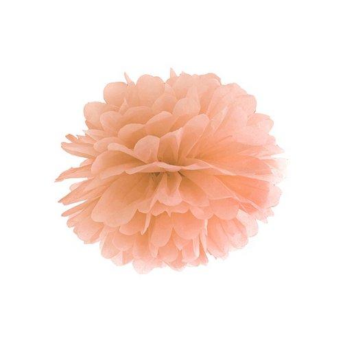bruiloft-decoratie-pompom-peach-25cm