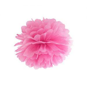 bruiloft-decoratie-pompom-roze-25cm
