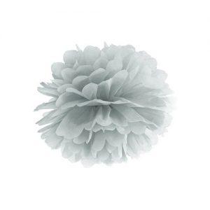 bruiloft-decoratie-pompom-zilver-25cm