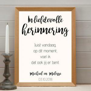 bruiloft-decoratie-poster-in-lievdevolle-herinneringen-modern