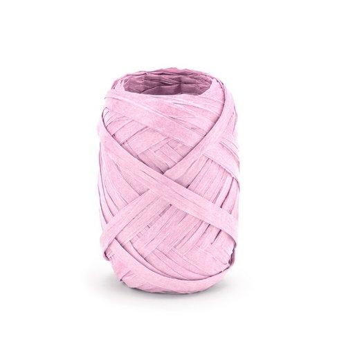 bruiloft-decoratie-raffia-lint-pastel-roze-10m