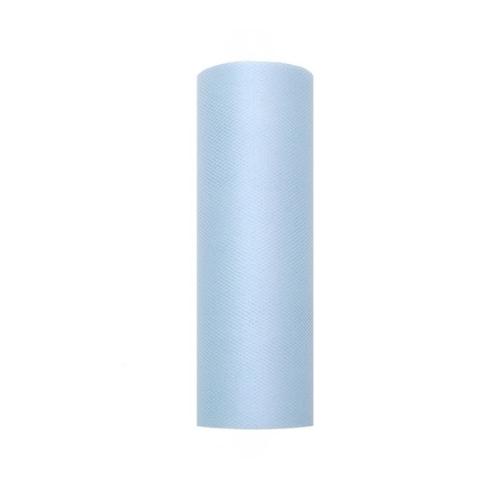 bruiloft-decoratie-rol-tule-licht-blauw-15cm