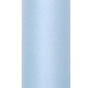 bruiloft-decoratie-rol-tule-licht-blauw