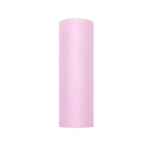 bruiloft-decoratie-rol-tule-pastel-roze-15cm