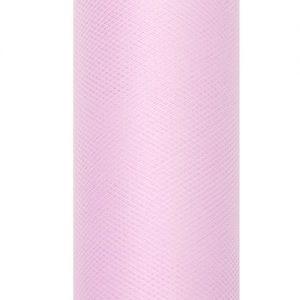 bruiloft-decoratie-rol-tule-pastel-roze