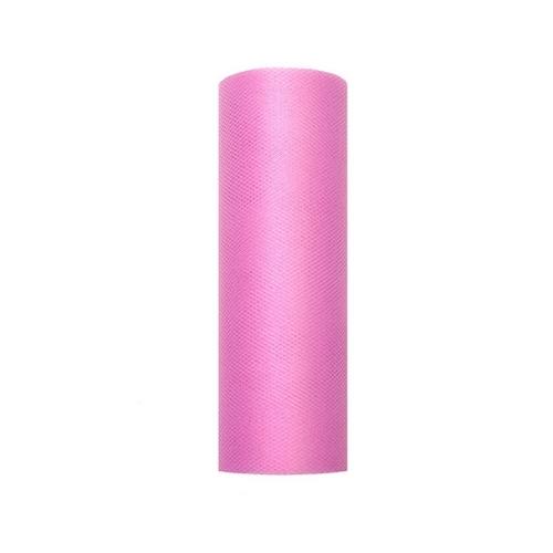 bruiloft-decoratie-rol-tule-roze-15cm