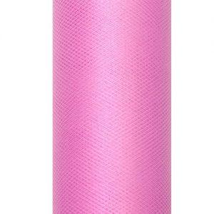 bruiloft-decoratie-rol-tule-roze