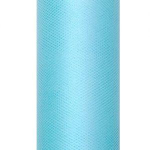 bruiloft-decoratie-rol-tule-turquoise