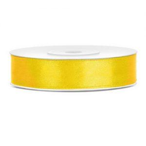 bruiloft-decoratie-satijnlint-geel-12mm