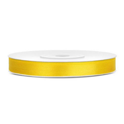 bruiloft-decoratie-satijnlint-geel-6mm