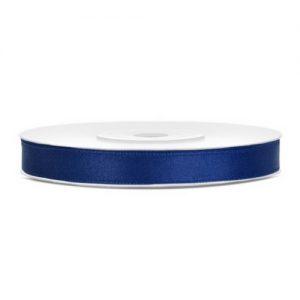 bruiloft-decoratie-satijnlint-navy-blauw-6mm