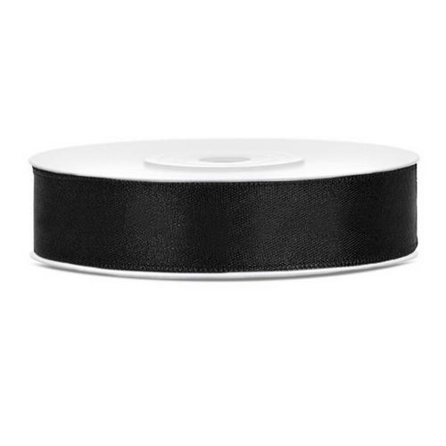 bruiloft-decoratie-satijnlint-zwart-12mm