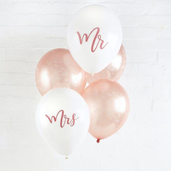 bruiloft-decoratie-ballonnen-mr-mrs-rosegoud-2