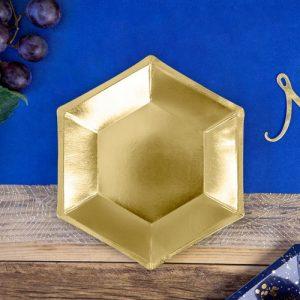 bruiloft-decoratie-papieren-bordjes-metallic-gold-2