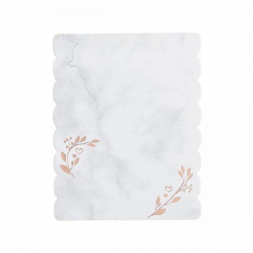 bruiloft-decoratie-plaatskaartjes-marble-rose-gold
