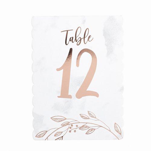 bruiloft-decoratie-tafelnummer-marble-rose-gold