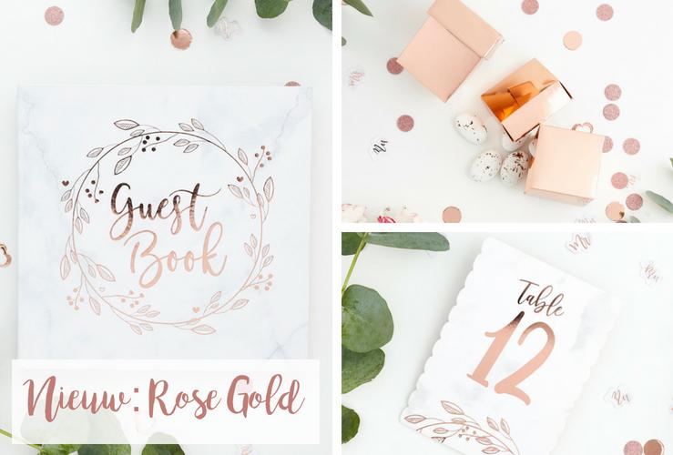 Nieuw: Rose Gold & Marble