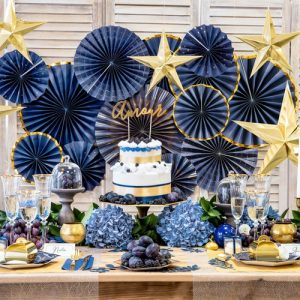 bruiloft-decoratie-paper-fans-royal-blue-005
