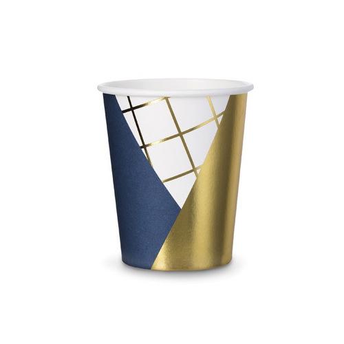 bruiloft-decoratie-papieren-bekertjes-royal-blue-001