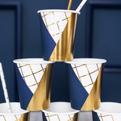 bruiloft-decoratie-papieren-bekertjes-royal-blue-003