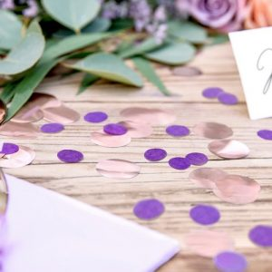 bruiloft-decoratie-confetti-purple-circles-2