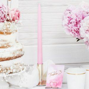 bruiloft-decoratie-dinerkaarsen-mat-licht-roze-3