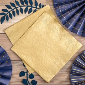 bruiloft-decoratie-servetten-metallic-gold-2