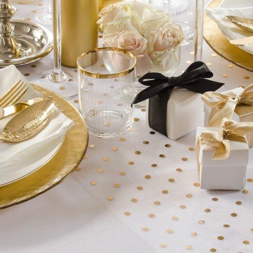 bruiloft-decoratie-tafelloper-golden-dots-11