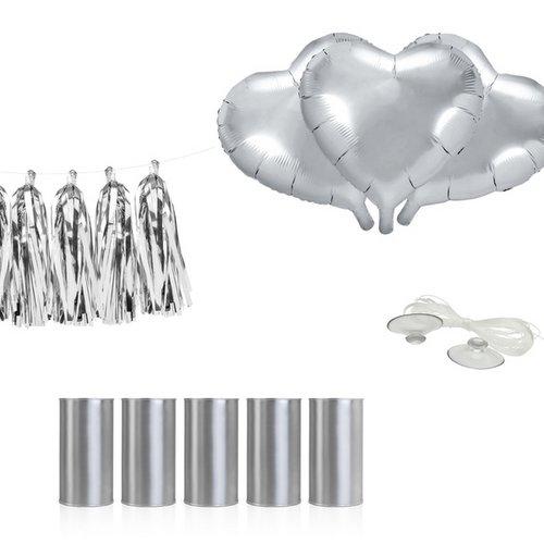 bruiloft-decoratie-autodecoratie-kit-hearts-zilver-2