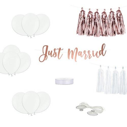 bruiloft-decoratie-autodecoratie-kit-just-married-rosegoud-2