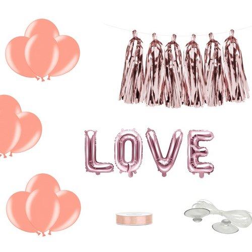 bruiloft-decoratie-autodecoratie-kit-love-rosegoud-2
