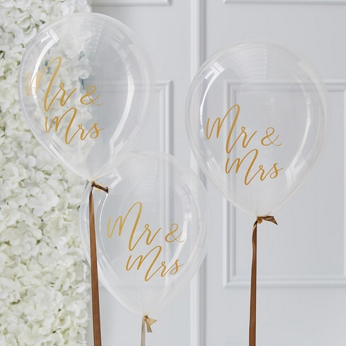 bruiloft-decoratie-ballonnen-mr-mrs-gold-wedding